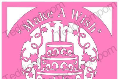 Make A Wish Birthday Cake SVG file
