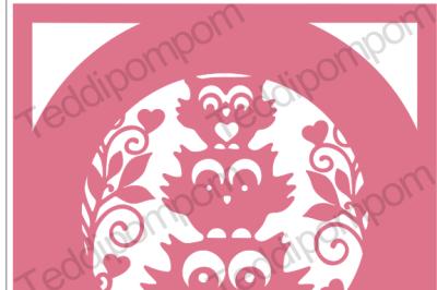 Woodland Owl SVG frame