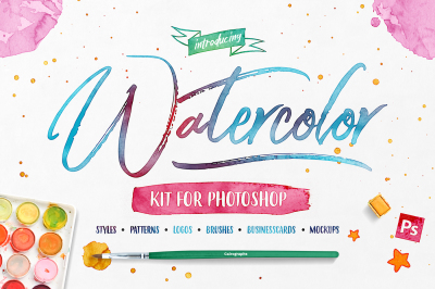 The Watercolor Kit For Photoshop