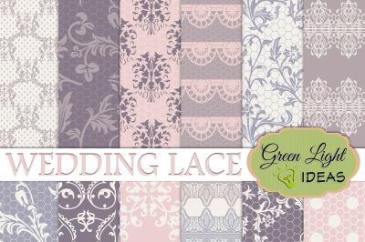 Wedding Lace Digital Papers, Wedding Backgrounds