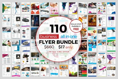 110 Multipurpose Flyer Bundle 98%off