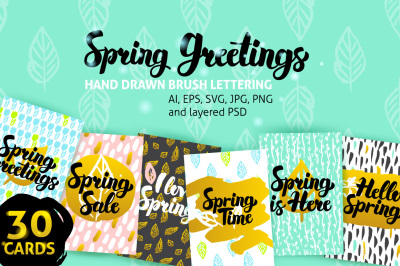 Spring Greetings Posters