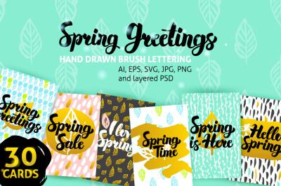 Spring Greetings Posters