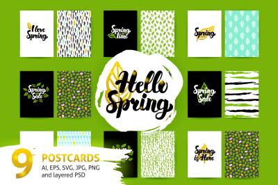 Spring Lettering Postcards