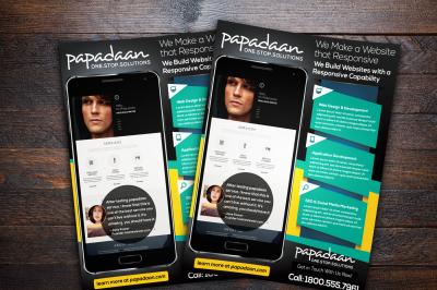 Responsive Website Promotion Flyer