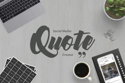 Social Media Quote Creator