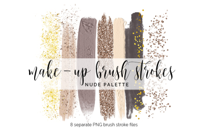 Make-Up Brush Strokes Clipart - nude