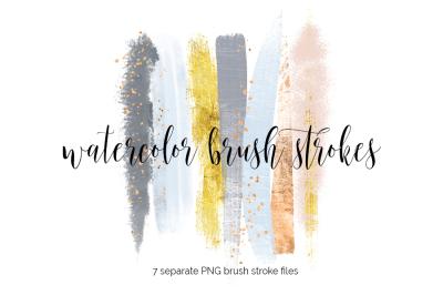 Brush Strokes Clipart - winter