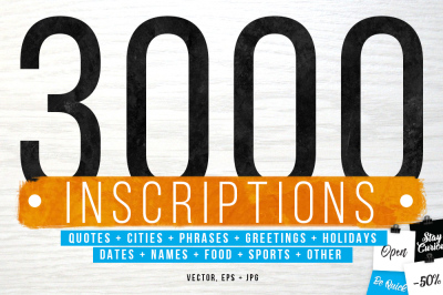 3000 inscriptions