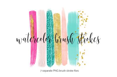 Brush Strokes Clipart - Make-Up
