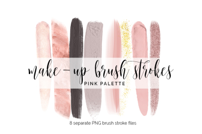 Brush Strokes Clipart - pink makeup