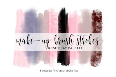 Brush Strokes Clipart - rose gray