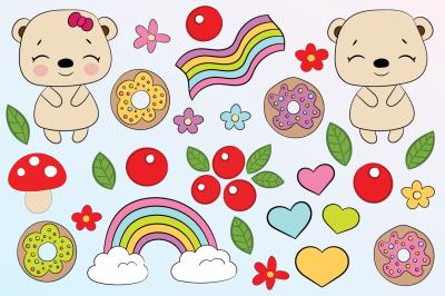 Cute bears - element & pattern