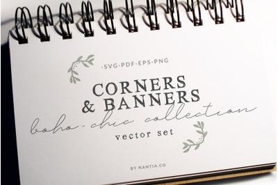 Boho-Chic Corners Vectors