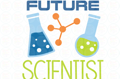Future Scientist SVG, DXF, EPS
