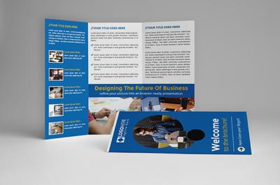 Blue Trifold Brochure