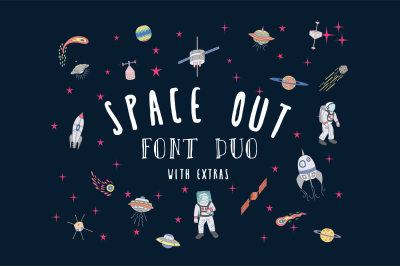 Hand Written Font - Space Out + Extras