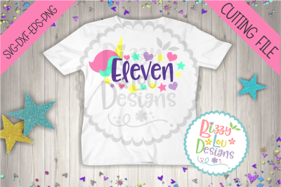 Eleventh Birthday Unicorn SVG, DXF, EPS, PNG file