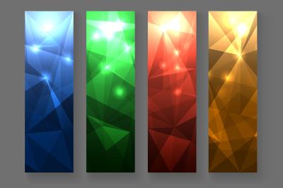 Abstract Polygonal Banner Set