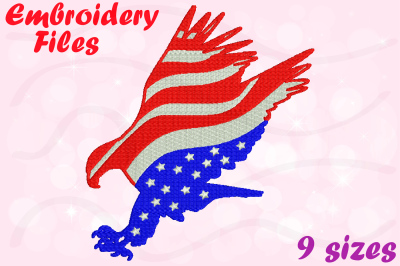 American Eagle - Designs for Embroidery Machine Instant Download Commercial Use digital file 4x4 5x7 hoop icon symbol sign 2b