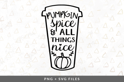 Pumpkin Spice Cup SVG/PNG Graphic