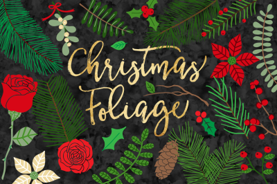 Winter Flowers - Christmas Foliage