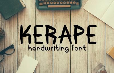 Kerape Handwritting Font