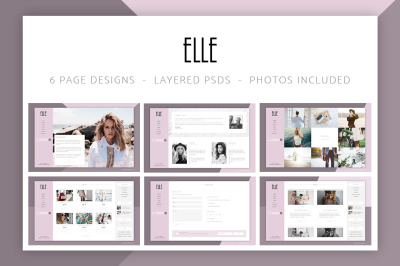Elle - Fashion Shop & Blog Website 6 Photoshop PSD