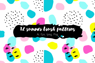 12 summer brush patterns