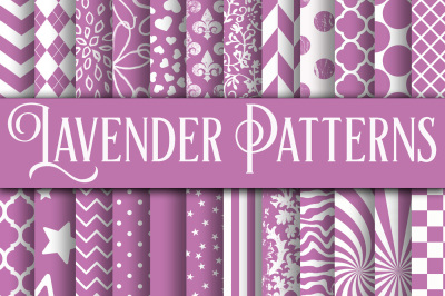 Lavender Patterns Digital Paper