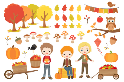 Fall Boys Clipart
