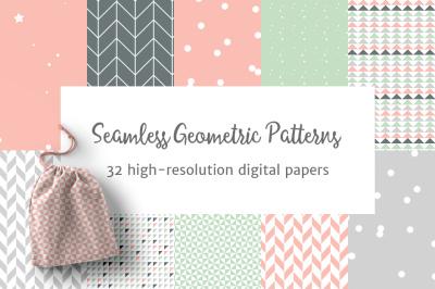 Seamless Pastel Geometric Patterns 2