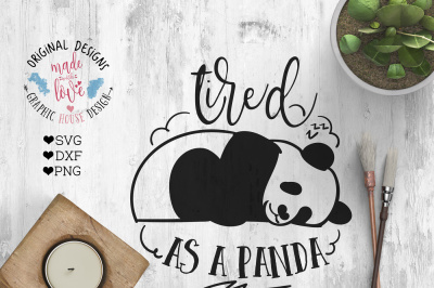 Tired as a Panda Cutting File