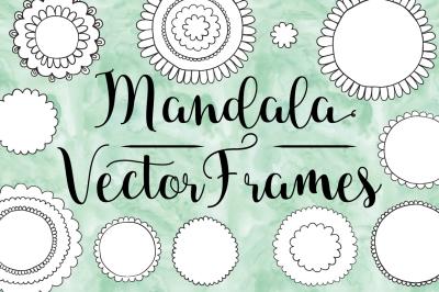 Hand Drawn Mandala Frames