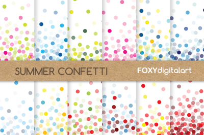 Confetti Digital Papers Scrapbook