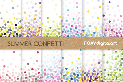 Confetti Digital Paper Set Scrapbook
