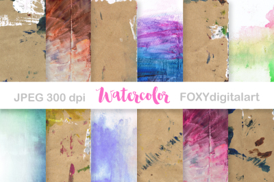 Digital Paper Watercolor Paint Splatter