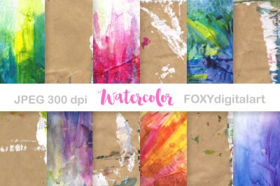 Digital PaperWatercolor Paint Splatter