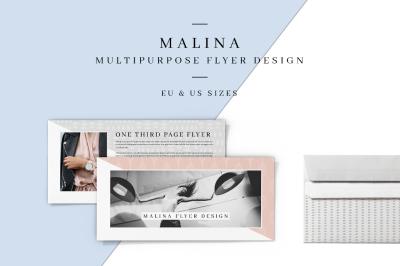 MALINA One Third Page Flyer + Pattern