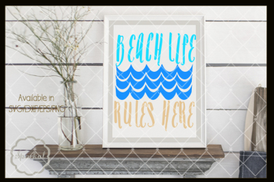 Beach Life Summer SVG Design