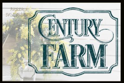 Century Farm- Farmhouse Design - Cutting File
