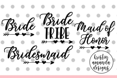Bride Wedding Bundle SVG DXF EPS PNG Cut File • Cricut • Silhouette