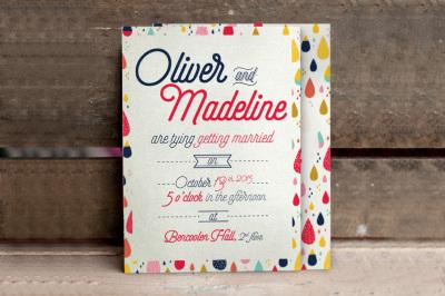 Fun Pattern Wedding Invitationn