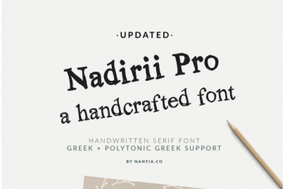Nadirii Font | Handcrafted