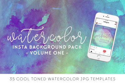 Watercolor Background Pack - Volume One