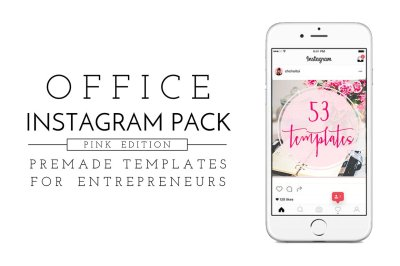 Office Instagram Pack - Pink Edition