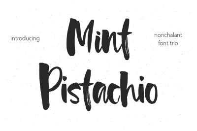Mint Pistachio Font Trio