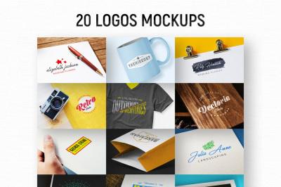 20 Logos Mockups