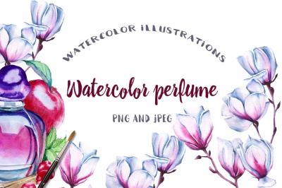 Watercolor perfume
