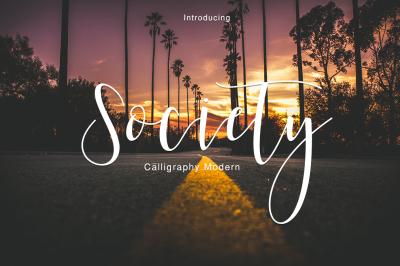 Society Calliraphy Modern